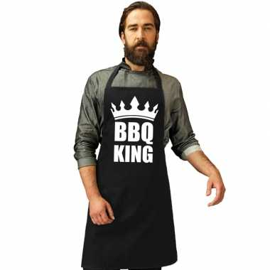 Barbecue king barbecuekookschort/ kookschort zwart heren