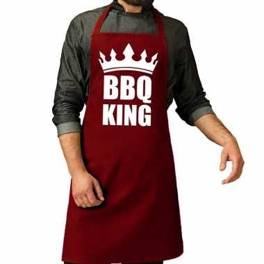 Barbecue king barbeque kookschort / kookschort bordeaux rood heren