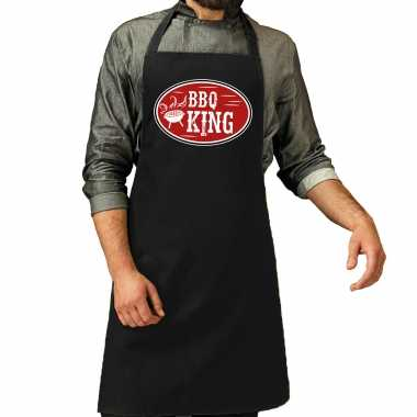 Barbecue king cadeau kookschort zwart heren