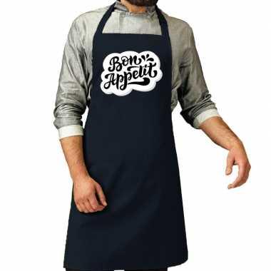 Bon appetit barbecuekookschort / kookschort navy heren