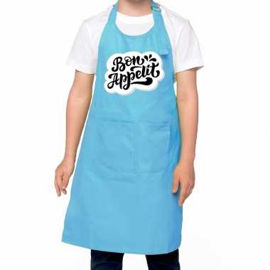 Bon appetit kookschort blauw kinderen