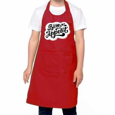 Bon appetit kookschort rood kinderen