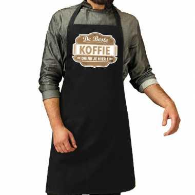 De beste koffie kookschort zwart heren