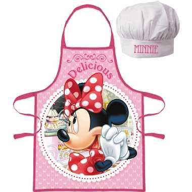 Disney minnie mouse kookschort koksmuts kinderen