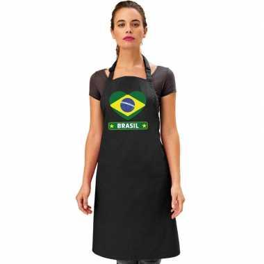 I love brazilie kookschort/ barbecuekookschort zwart volwassenen