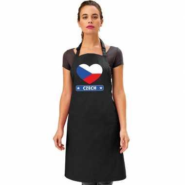I love tsjechie kookschort/ barbecuekookschort zwart volwassenen