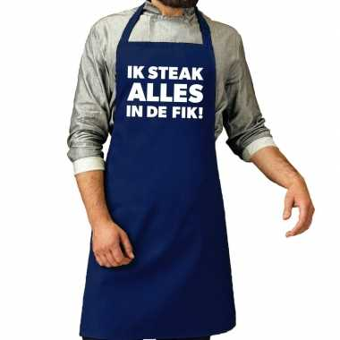 Ik steak alles fik barbecue kookschort / kookschort kobalt heren