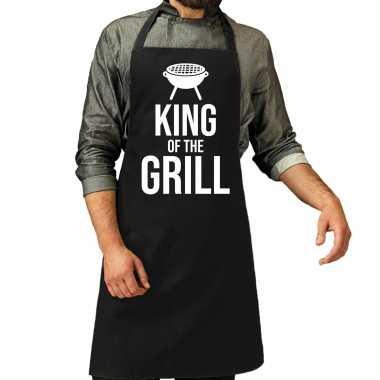 King of the grill barbecue / barbecue kookschort zwart heren