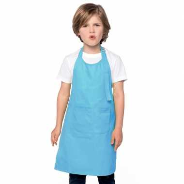 Kliederkookschort aqua blauw kids