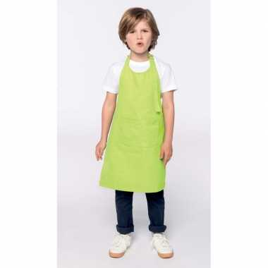 Kliederkookschort lime groen kids