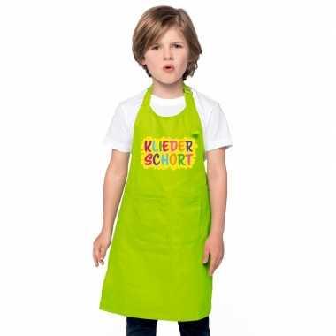 Kliederkookschort lime groen kinderen