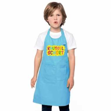 Knutselkookschort blauw kinderen
