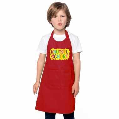 Knutselkookschort rood kinderen
