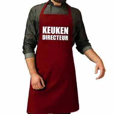 Kook directeur barbeque kookschort / kookschort bordeaux rood vo