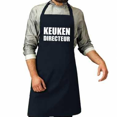 Kook directeur barbeque kookschort / kookschort navy heren