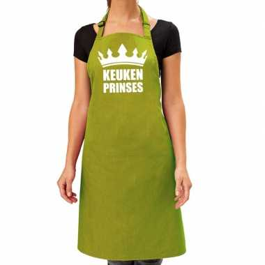 Kook prinses barbeque kookschort / kookschort lime groen dames