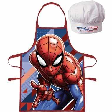 Marvel spiderman kookschort koksmuts kinderen