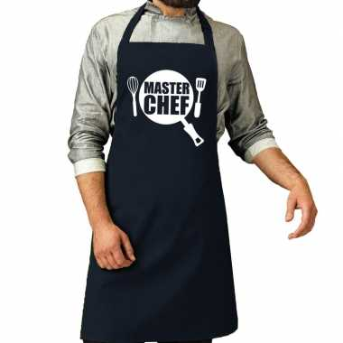Master chef barbeque kookschort / kookschort navy heren