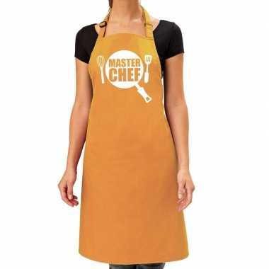 Master chef barbeque kookschort / kookschort oker geel dames