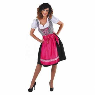 Oktoberfest zwart roze kookschort