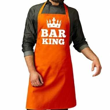 Oranje bar king kookschort heren