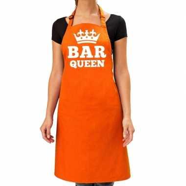 Oranje bar queen kookschort dames