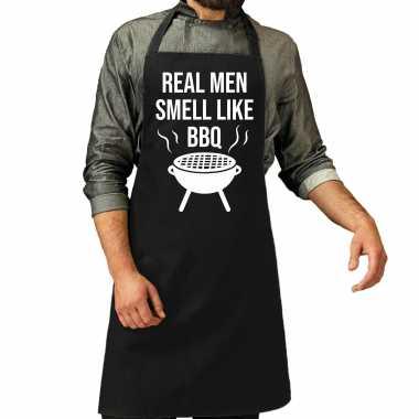 Real men smell like barbecue / barbecue kookschort zwart heren