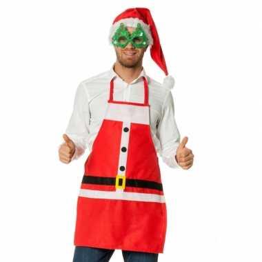 Rode kerstkookschort kerstman