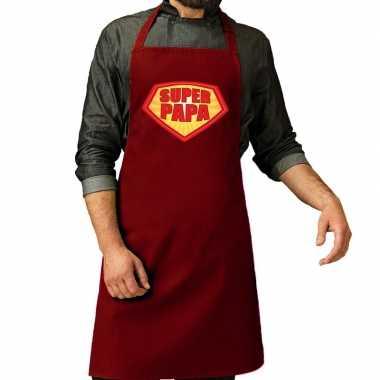 Super papa barbeque kookschort / kookschort bordeaux rood her
