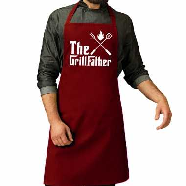 The grillfather barbecue / barbecue kookschort rood heren