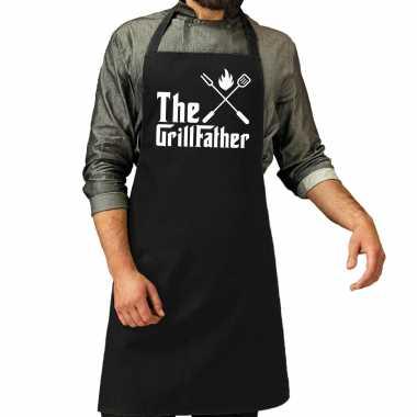 The grillfather barbecue / barbecue kookschort zwart heren