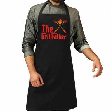 The grillfather barbecue kookschort / kookschort zwart heren