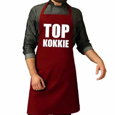 Top kokkie barbeque kookschort / kookschort bordeaux rood her