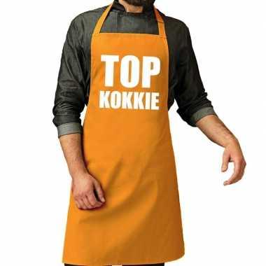 Top kokkie barbeque kookschort / kookschort oker geel heren