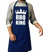 Barbecue king barbeque kookschort kobalt blauw heren