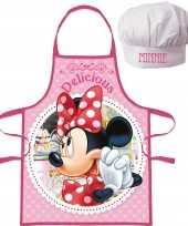 Disney minnie mouse kookschort koksmuts kinderen