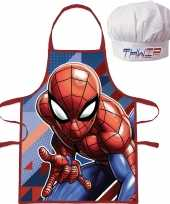 Marvel spiderman kookschort koksmuts kinderen