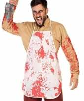 Slachters kookschort bloed print volwassenen